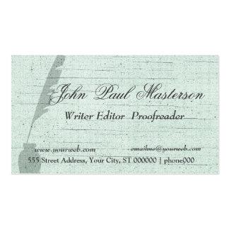 Periodista verde del escritor del diseño plantilla de tarjeta de visita
