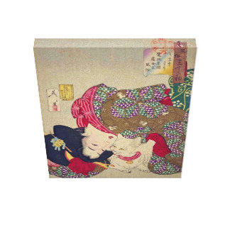 Período de Kansei de Tsukioka Yoshitoshi Impresión En Tela