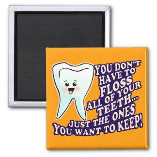 Periodontist del higienista del dentista imán cuadrado