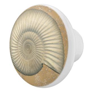 Perisphinctes Ammonite Ceramic Knob