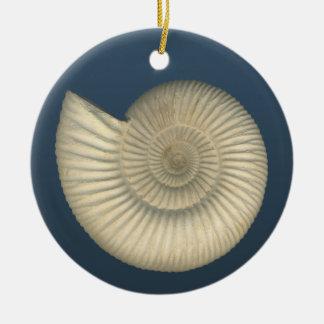 Perisphinctes Ammonite fossil Christmas Ornaments