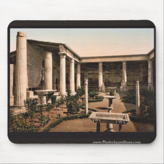 Peristyle of the House of Vetti, Pompeii, Italy cl Mouse Pad