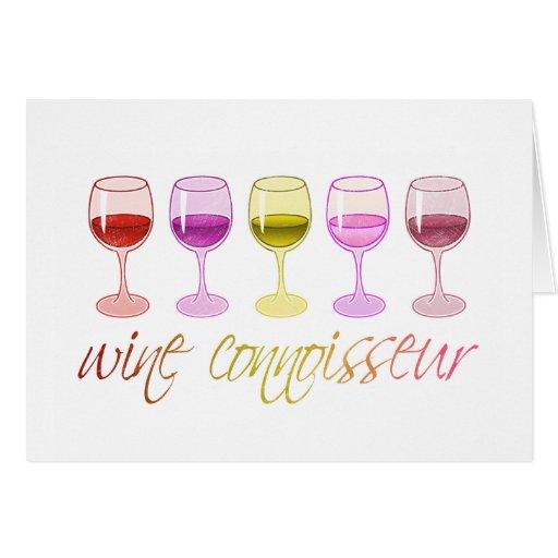 Perito del vino tarjeta de felicitación