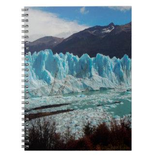 Perito Moreno Glacier Front In The Andes Notebook