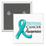 Peritoneal Cancer Awareness Ribbon Pinback Buttons