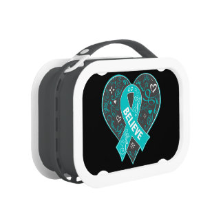 Peritoneal Cancer Believe Ribbon Heart Yubo Lunchbox