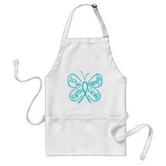Peritoneal Cancer Butterfly Inspiring Words Adult Apron