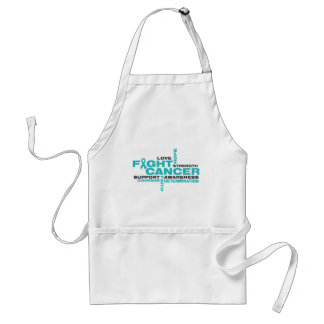 Peritoneal Cancer Fight Collage Adult Apron