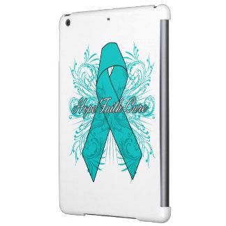 Peritoneal Cancer Flourish Hope Faith Cure iPad Air Covers