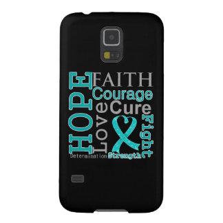 Peritoneal Cancer Hope Faith Motto Galaxy S5 Covers