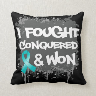 Peritoneal Cancer I Fought Conquered Won Pillow