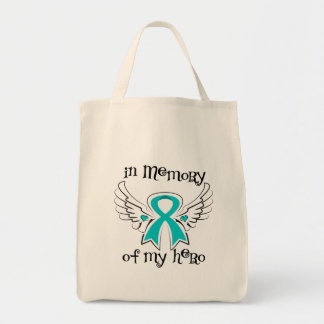 Peritoneal Cancer In Memory of My Hero Grocery Tote Bag
