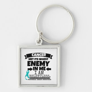 Peritoneal Cancer Met Its Worst Enemy in Me Keychain