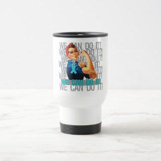 Peritoneal Cancer Rosie WE CAN DO IT 15 Oz Stainless Steel Travel Mug