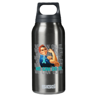 Peritoneal Cancer Rosie WE CAN DO IT 10 Oz Insulated SIGG Thermos Water Bottle