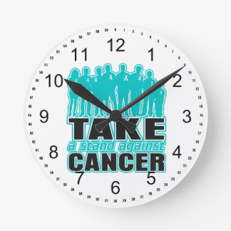 Peritoneal Cancer -Take A Stand Against Cancer Round Clock