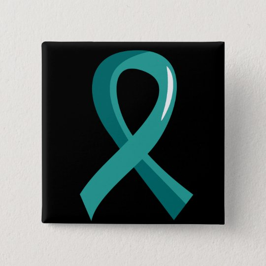 Peritoneal Cancer Teal Ribbon 3 Button