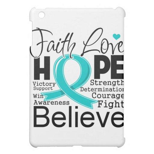 Peritoneal Cancer Typographic Faith Love Hope iPad Mini Cover