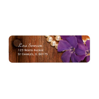 Periwinkle and Pearls Return Address Label