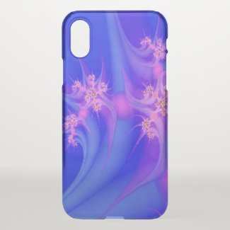 Periwinkle and Pink Floral Art Uncommon iPhone Case