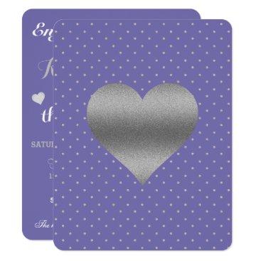 McTiffany Tiffany Aqua Periwinkle And Silver Heart & Polka Dot Party Card