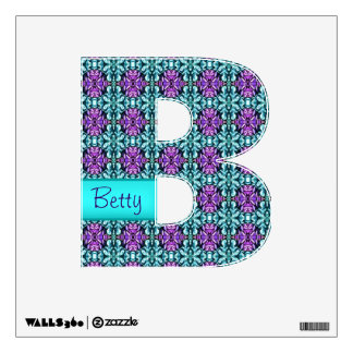 Periwinkle and Turquoise Round Mosaic Pattern Wall Decal