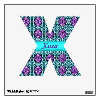 Periwinkle and Turquoise Round Mosaic Pattern Wall Sticker