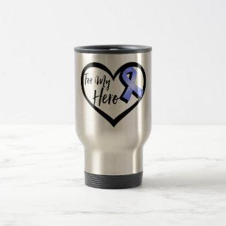 Periwinkle Awareness Ribbon For My Hero Travel Mug