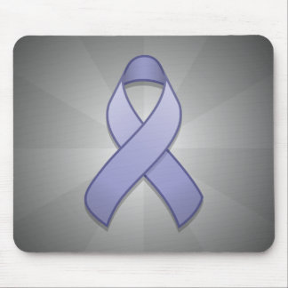 Periwinkle Awareness Ribbon Mousepad
