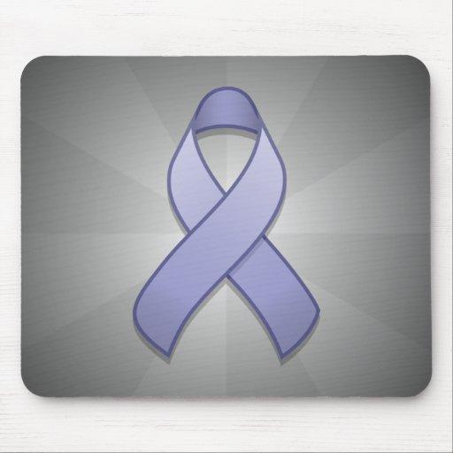Periwinkle Awareness Ribbon Mousepad