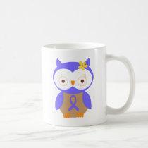 Periwinkle Awareness Ribbon Owl Coffee Mug
