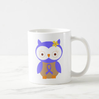 Periwinkle Awareness Ribbon Owl Coffee Mug