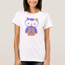 Periwinkle Awareness Ribbon Owl T-Shirt