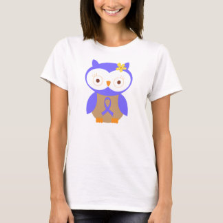 Periwinkle Awareness Ribbon Owl T-Shirt