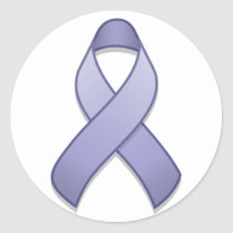 Periwinkle Awareness Ribbon Round Sticker