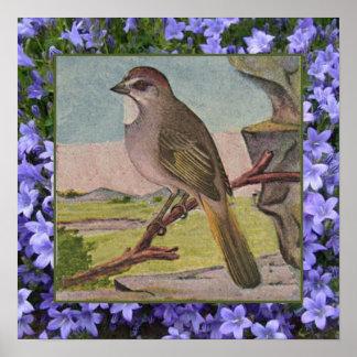 Periwinkle Bird Print