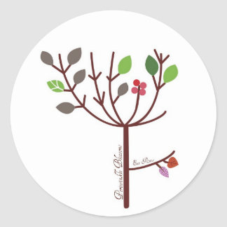 Periwinkle Blossoms Raw Food Classic Round Sticker