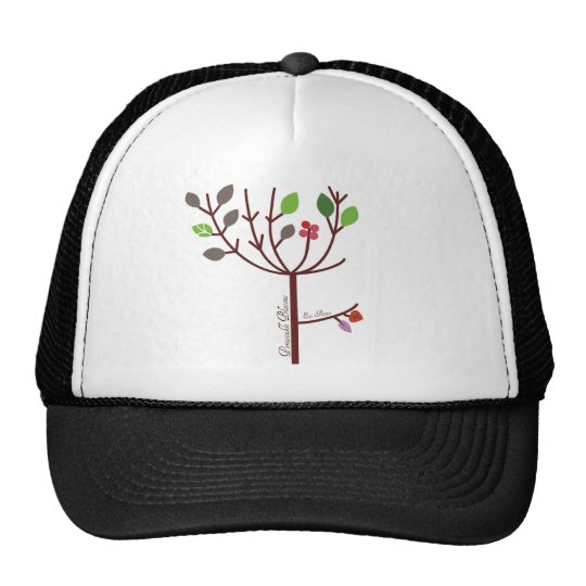 Periwinkle Blossoms Raw Food Trucker Hat