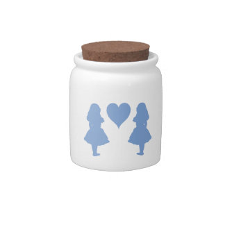 Periwinkle Blue Alice to Alice Candy Jar