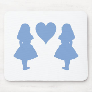 Periwinkle Blue Alice to Alice Mouse Pad