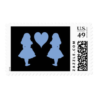Periwinkle Blue Alice to Alice Postage Stamps
