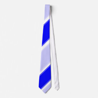 Periwinkle Blue and White Club Tie