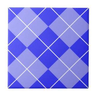 Periwinkle Blue Argyle Ceramic Tile