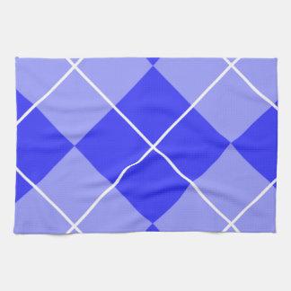 Periwinkle Blue Argyle Kitchen Towels