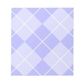 Periwinkle Blue Argyle Notepad
