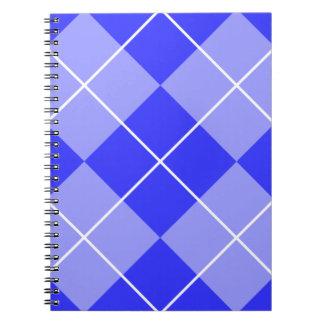 Periwinkle Blue Argyle Spiral Notebook