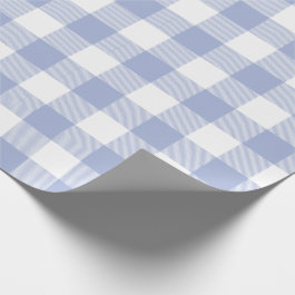 Periwinkle Blue Buffalo Check Pattern Wrapping Paper