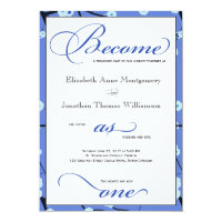 Periwinkle Blue Christian Wedding Invitations