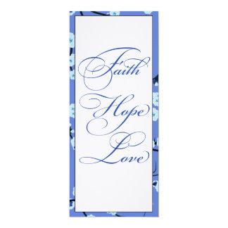 Periwinkle Blue Christian Wedding Menus Card