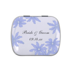 Periwinkle Blue Daisies Wedding Favor Candy Tin at Zazzle